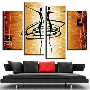 Quadro pintura em tela Corpos iluminados 140 x 80 cm