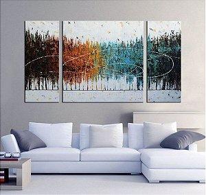 Quadro Decorativo Pintura em Tela Abstrato Moderno