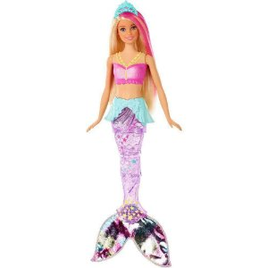 Boneca Barbie Sereia Brilhante com Movimento