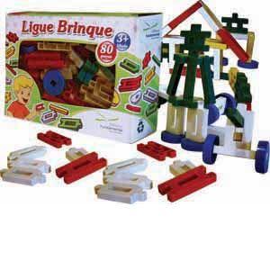Ligue Brinque - 80 peças