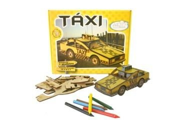 Coleção S.O.S. - Carro de Montar e Colorir (TAXI)