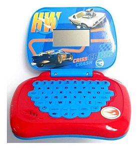 Laptop Hot Wheels Infantil - Bilingue Português/inglês