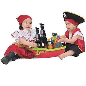 Barco Aventura Pirata com Acessórios