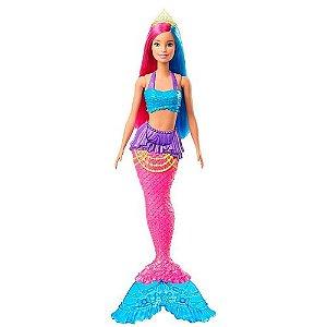 Barbie Dreamtopia Sereia Cabelo Azul e Rosa