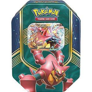 Pokémon Lata Batalha de Coração Volcanion-EX