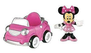 Fisher Price Minnie  com Mini veiculo + personagem