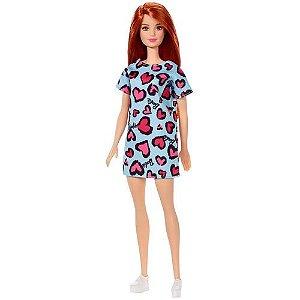 Boneca Barbie Fashion Ruiva Vestido Verde