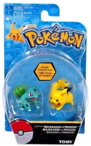 Boneco Pokémon: Pikachu vs Bulbasaur