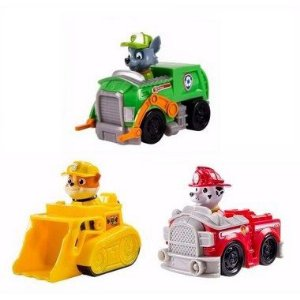 Conjunto 3 Mini Veículos com Personagens Patrulha Canina