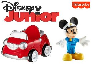 Mini Figura Mickey Policial com Mini veiculo Fisher Price