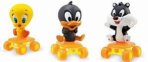 Amiguinhos de Rodas Looney Tunes - em Vinil - Kit com 3