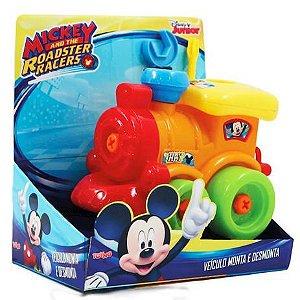 Veículo Mickey - Monta E Desmonta - Trem