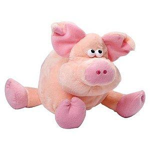 Pelúcia Porco Rosa - Lovely Toys - C om Som