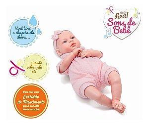Boneca Bebê Real estilo REBORN - Sons De Bebê