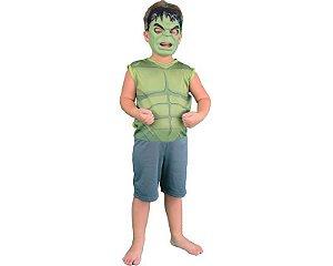 Fantasia Hulk Clássica - Regata com Máscara - Tamanho P