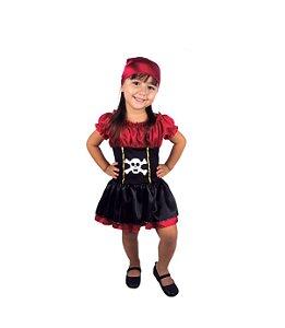 Fantasia Infantil Menina Pirata - Brink Model