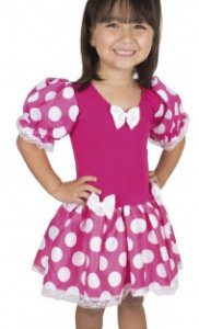 Fantasia Infantil da Ratinha Rosa e Branca - Minnie - Brink Model