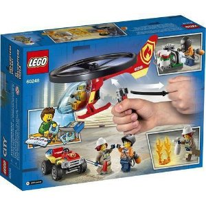 LEGO 60248 City - Combate ao Fogo com Helicóptero (helicóptero de cordão que realmente voa)
