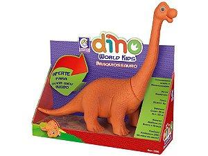 Dinossauro Branquiossauro com Som- Dino World Kids - Cotiplás