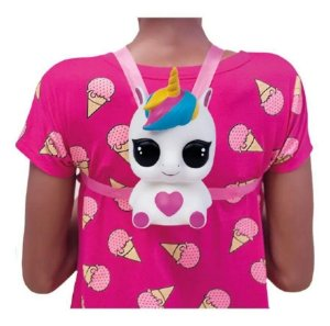Cofrinho Mochila Pop Surprise Pets Unicornio