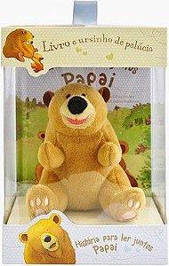 Urso Pelúcia com livro de histórias para ler junto com o Papai