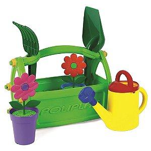 Kit Jardineiro Infantil Colorido com Regador e Acessórios