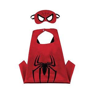 Fantasia Homem Aranha - Capa em tecido e Máscara em Feltro