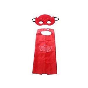Fantasia Corujita PJ Masks - Capa em tecido e Máscara em Feltro