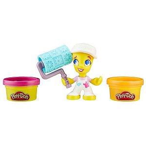 Conjunto Massinha Playdoh com Figura Menina Sorveteira Hasbro