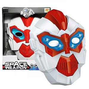 Mascara Eletrônica Robô Space Weapon com som e luz