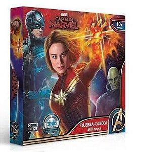 Quebra Cabeça Capitã Marvel 500 Peças Edição Especial
