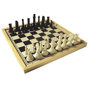 Jogo de Xadrez Escolar Tabuleiro com 32 pçs