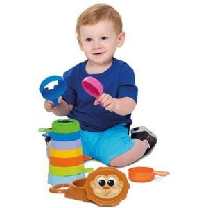 Brinquedo Educativo Empilha Macacos Baby