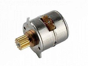 Micro Motor de Passo 5V com micro engrenagem metálica