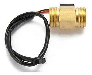 Sensor de Fluxo de Água de Latáo rosca 1/2 polegada -  1 a 25 litros/min 1,75 MPa