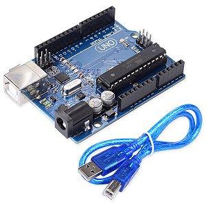 Arduino UNO R3 DIP + Cabo USB