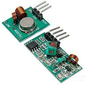 Kit Transmissor + Receptor RF 433Mhz