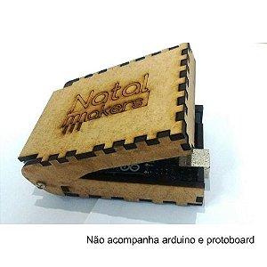 OKase - Case MDF articulado para Arduino UNO e protoboard