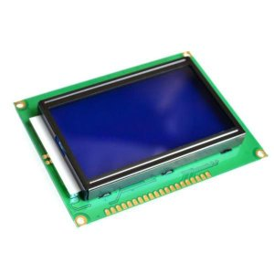 Display LCD Gráfico 128×64 Com Luz De Fundo Azul