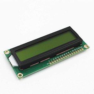 Display Cristal Líquido LCD 16x2 com Luz de fundo verde