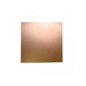Placa de Fenolite 10 x 10 cm - Face Cobreada Simples