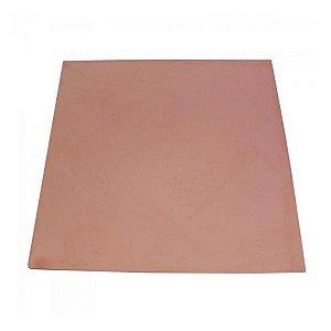 Placa de Fenolite 15 x 15 cm - Face Cobreada Simples