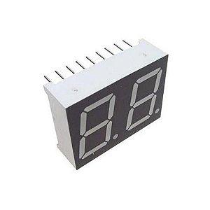"Display 7 Segmentos 2 Dígitos 0,56"" - Ânodo comum"