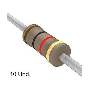 Resistor 1/4W 1K Ohms x 10 Unidades