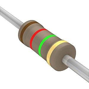 Resistor 1/4W 1M2 Ohms X 10 Unidades