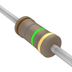 Resistor 1/4W 1M8 Ohms X 10 Unidades