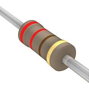 Resistor 1/4W 220R Ohms x 10 Unidades
