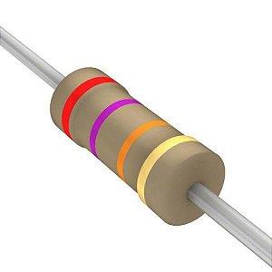 Resistor 1/4W 27K Ohms X 10 Unidades