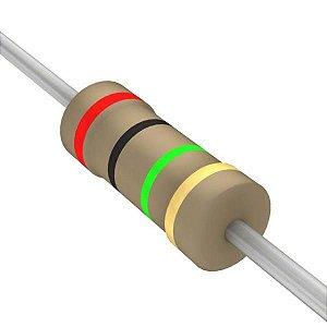 Resistor 1/4W 2M0 Ohms X 10 Unidades