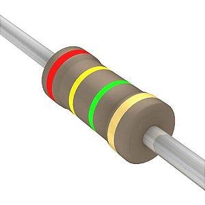 Resistor 1/4W 2M4 Ohms X 10 Unidades